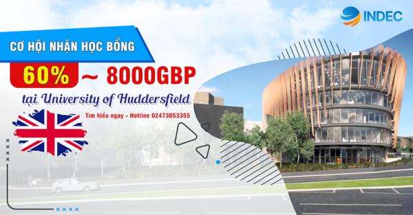 Săn học bổng du học UK lên tới 8000 GBP tại đại học Huddersfield